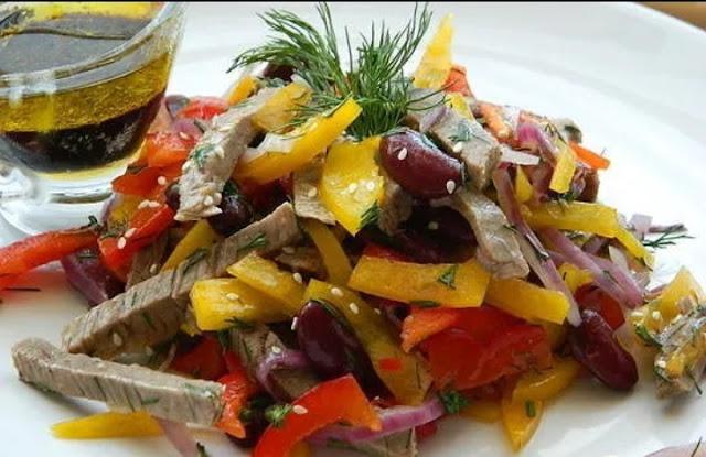 салат с говядиной картинка-рецепт