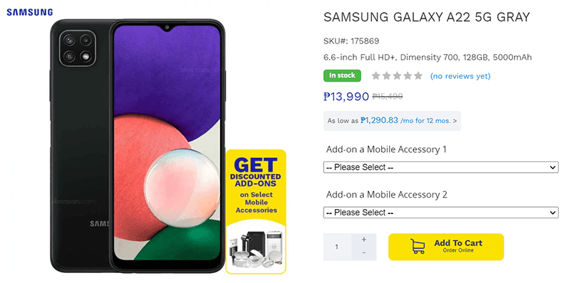 Samsung today has quietly revealed its newest and most affordable smartphone with  Samsung launched its most affordable 5G phone in the Philippines—the Galaxy A22 5G!