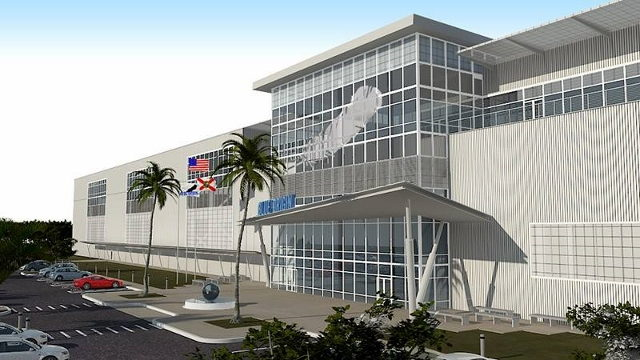 Artist concept of Blue Origin Rocket Factory In Florida