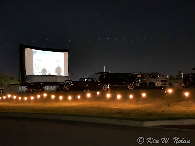 Drive-in movie theater at Tampa Armature Works