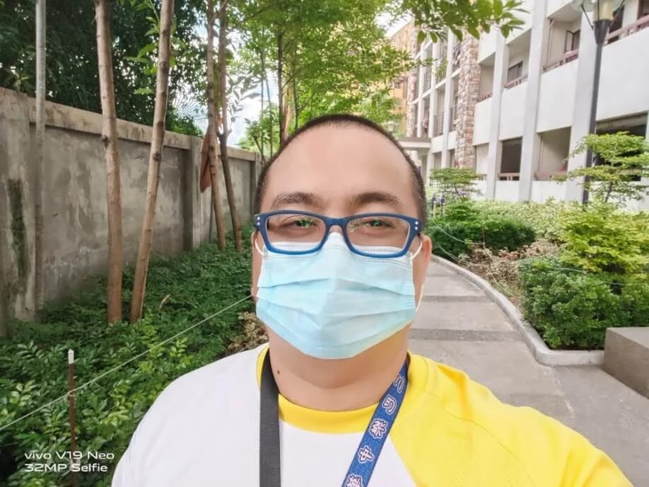 Vivo V19 Neo Camera Sample - Selfie with Mask, Normal