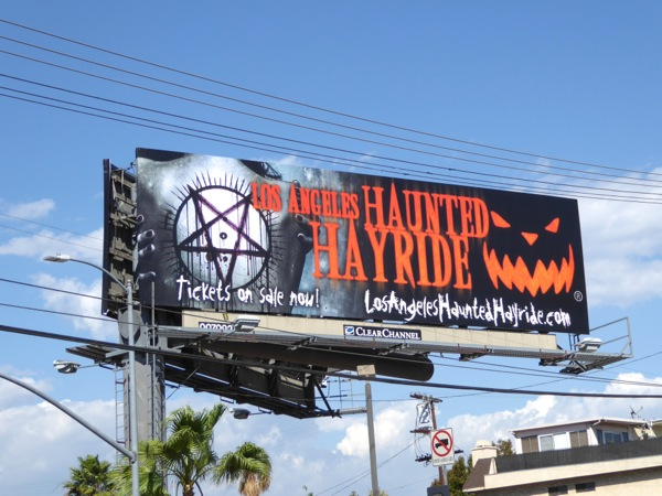 Los Angeles Haunted Hayride 2016 billboard