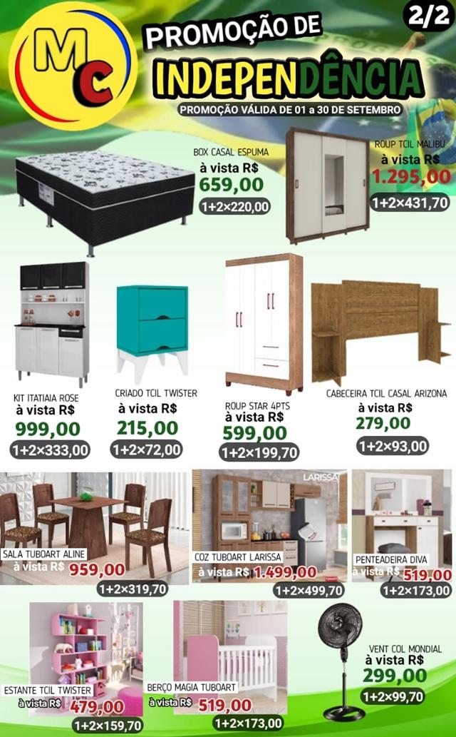 Aproveite as ofertas e promoções da Independência na Magazine Cardoso em Cocal