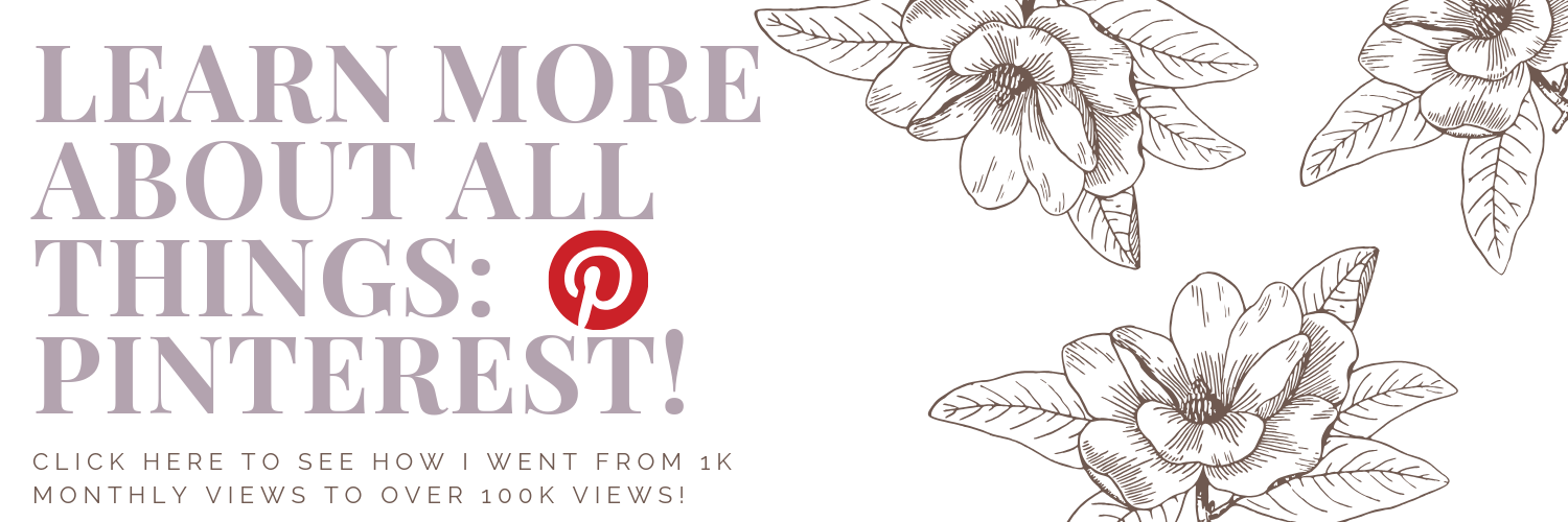amanda burrows a tampa blogger shares her pinterest tricks and tips to going from 1,000 monthly views to over 100,000 monthly views on her Pinterest page.