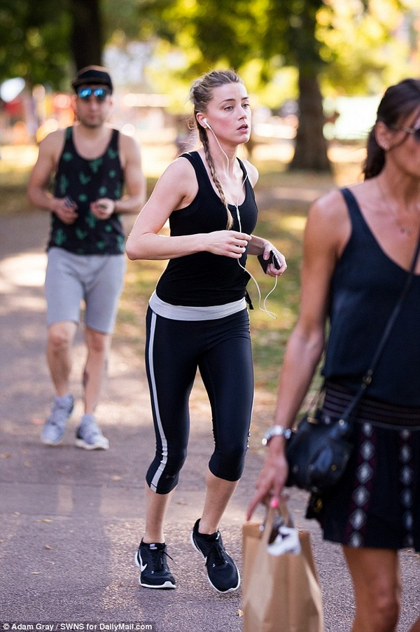 Amber Heard fitness training