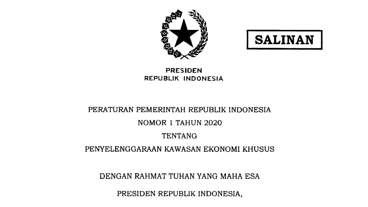 PP Nomor 1 Tahun 2020