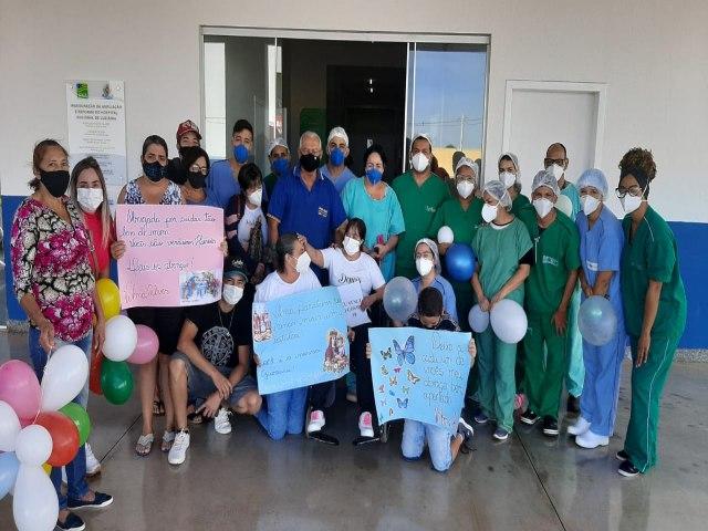 O Hospital Regional de Luziânia Goiás comemora 34 altas em apenas 4 dias