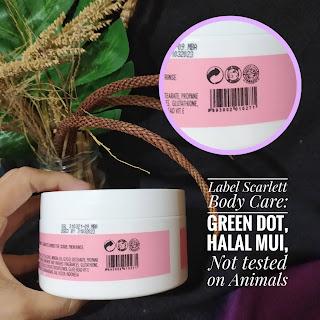 Label halal scarlett body scrub