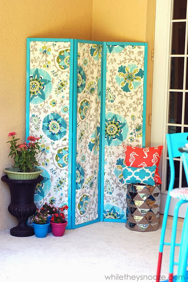 While They Snooze: DIY Outdoor Privacy Screen