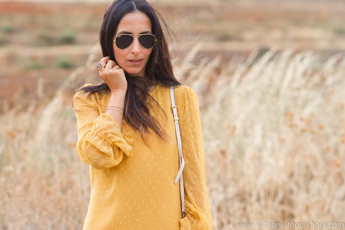 BLogger moda española de Valencia con vestido nueva coleccion Zara