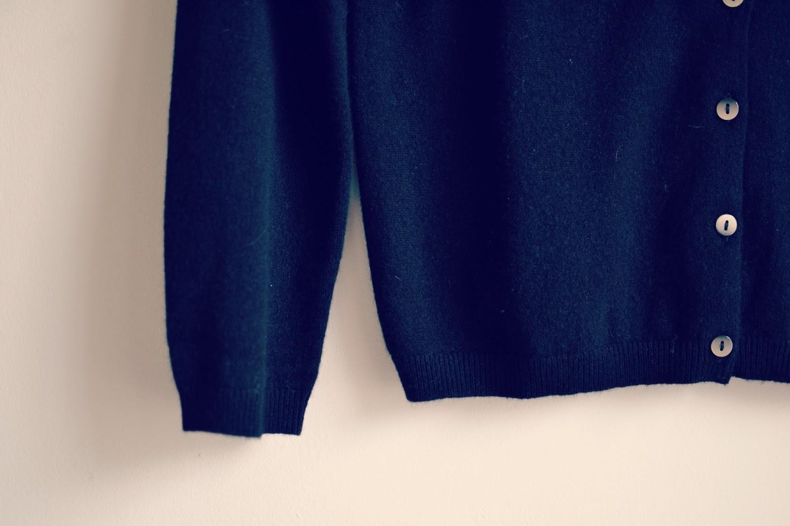 Boden black cashmere cardigan