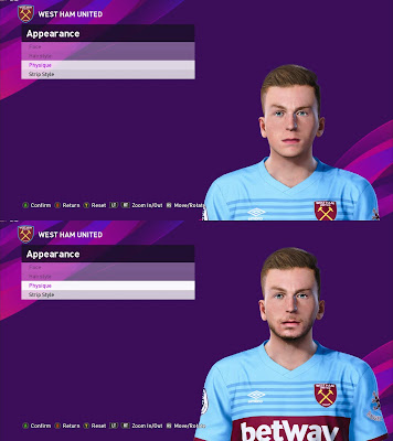 PES 2020 Faces Jarrod Bowen by Davidjm08