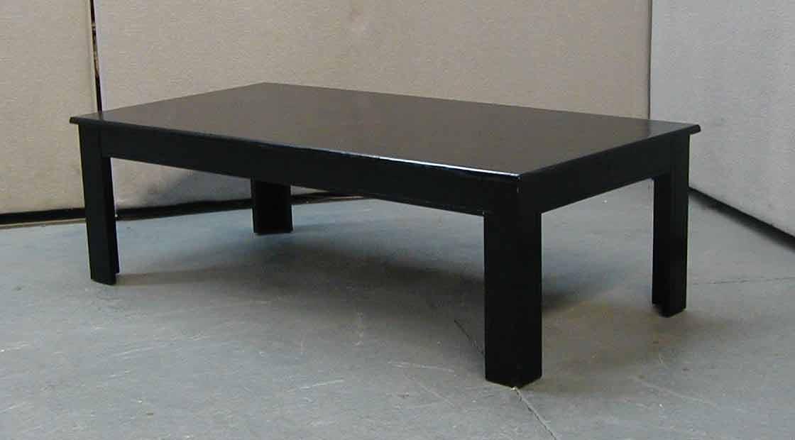 ROSE WOOD FURNITURE: black coffee table