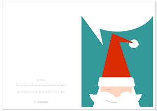 PAPÁ NOEL: Tarjeta de Navidad GRATIS / SANTA CLAUS Cool and cute Christmas Card FREE by @evacreando