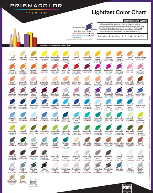 photo relating to Printable Prismacolor Color Chart called Prismacolor Major Coloured Pencils 150 Colour Chart - Arenda