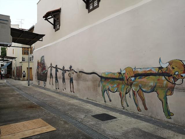 Chinatown mural - 牛车水壁画