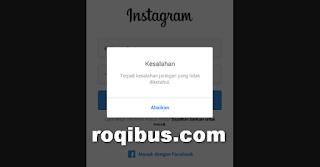 Instagram terjadi kesalahan jaringan