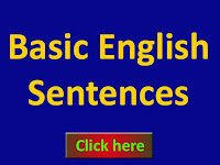 Basic English sentences daily uses