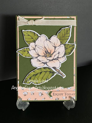 Stampin' Up Good Morning Magnolia card by Angela Lovel, Angela's PaperArts