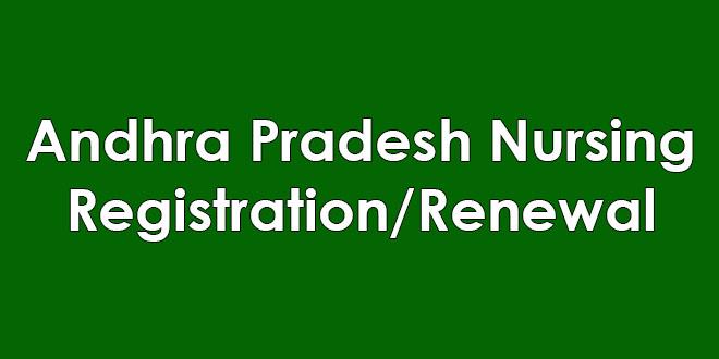 Andhra Pradesh Nursing Registration/Renewal Online