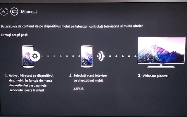 Aplicația Miracast