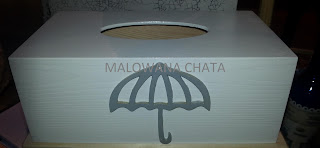 pojemnik na chusteczki z parasolką….