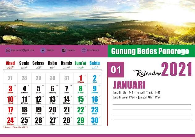 Download Template Kalender 2021 Format CDR Lengkap Jawa ...