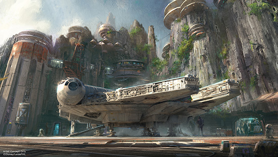 Concept Art of the Millenium Falcon