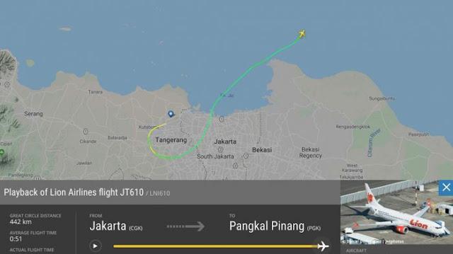 Pesawat Lion Air JT 610 Jatuh di Perairan Tanjung Kerawang