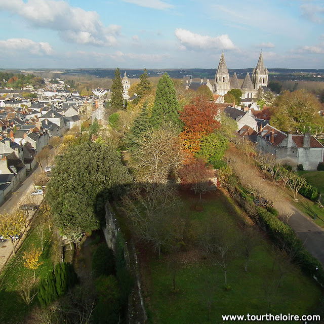 View from a tower on the Royal Citadel, Loches.  Indre et Loire, France. Photographed by Susan Walter. Tour the Loire Valley with a classic car and a private guide.