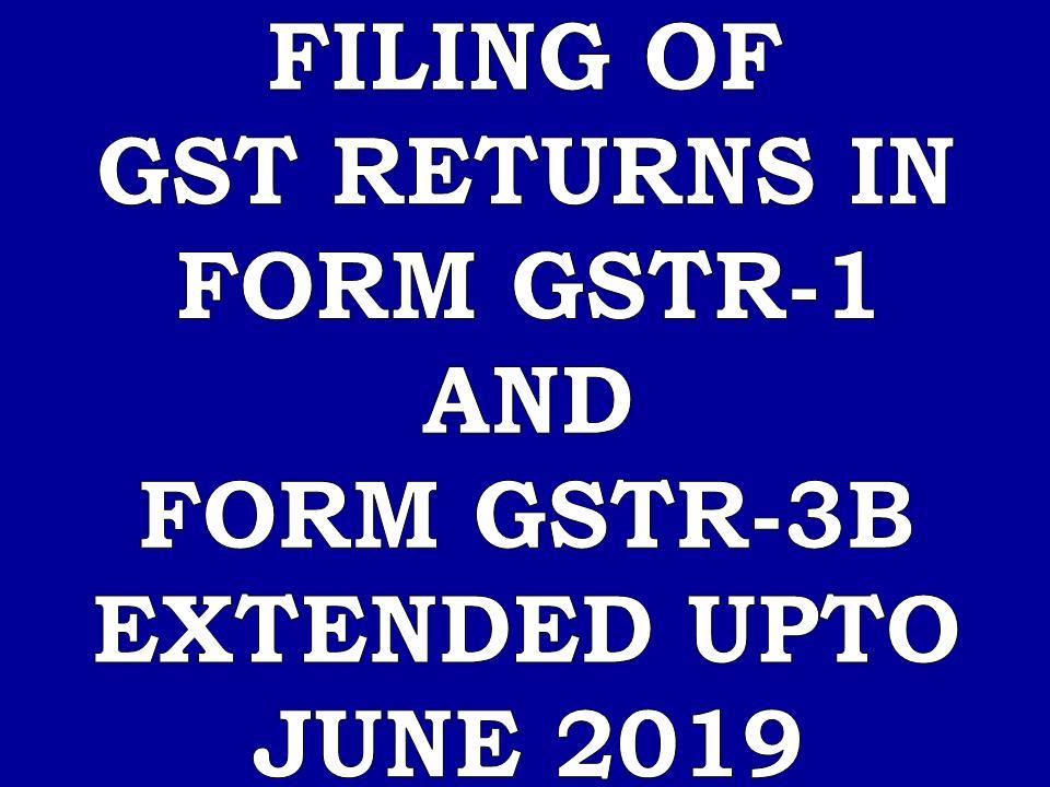 ABHIVIRTHI: Furnishing of GSTR-1 and GSTR-3B returns for