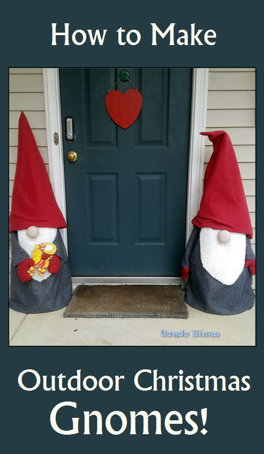 how to make outdoor Scandinavian Christmas gnome decorations