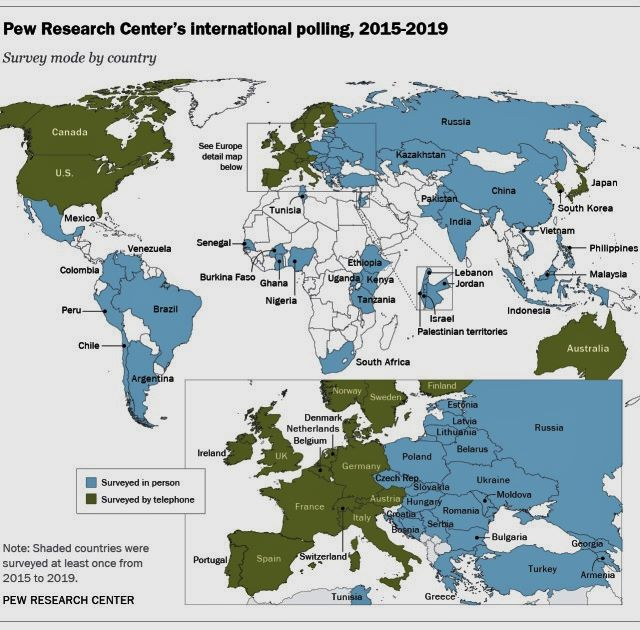 The corona virus pandemic's effect on Pew Research Center's worldwide surveying