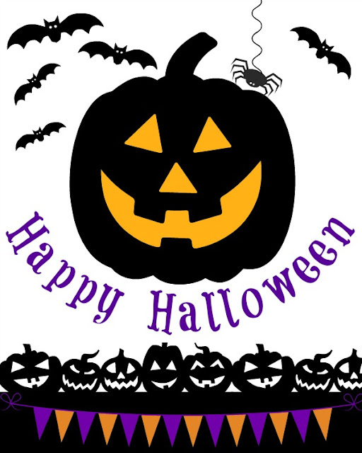 Free Printable Happy Halloween Jack O Lantern