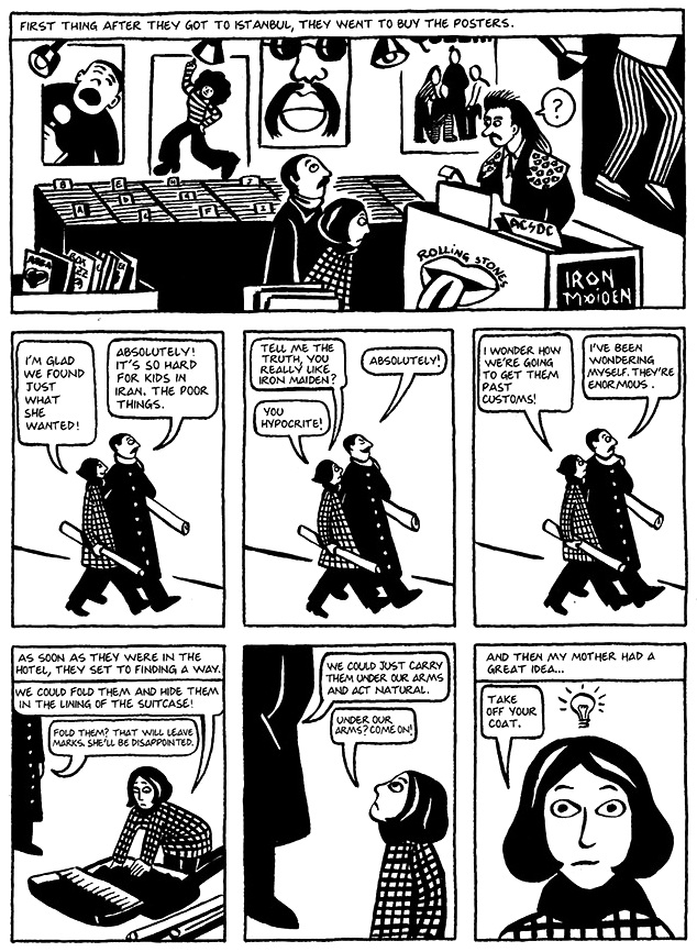 Read Chapter 17 - Kim Wilde, page 125, from Marjane Satrapi's Persepolis 1 - The Story of a Childhood