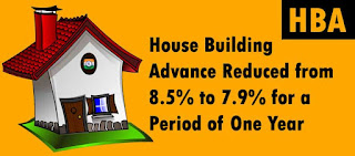 House Building Advance Reduced from 8.5% to 7.9% for a Period of One Year