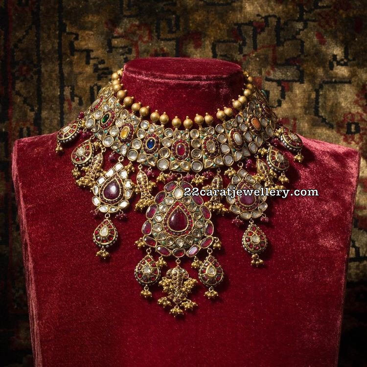Sabyasachi Kundan Jadau Necklace Jewellery Designs
