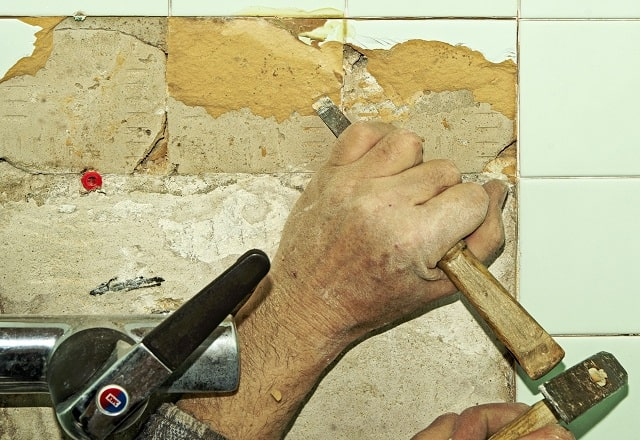 how to remove tile steps replace tiling bathroom floors