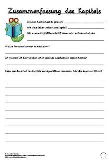 Lesetagebuch Fur Die Klassenlekture Teacher S Life 1