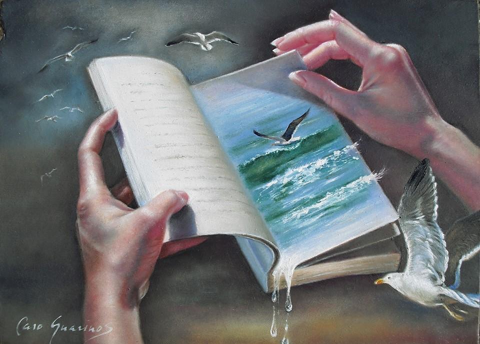 Caro Guarinos Ojeando y hojeando el mar