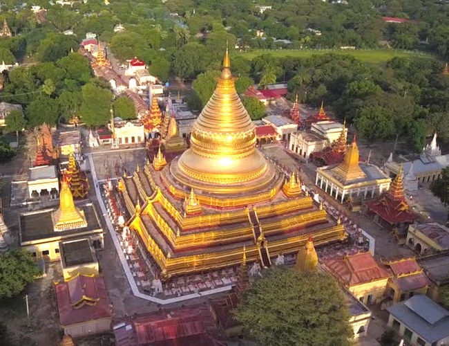 Xvlor Shwezigon Pagoda is Theravada Buddhism temple built by King Anawrahta