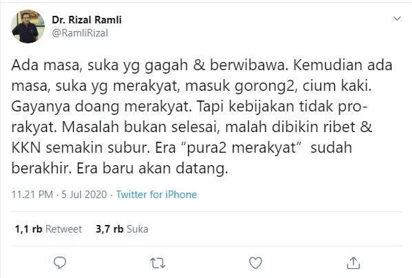 Pemimpin Masuk Gorong-gorong Rizal Ramli
