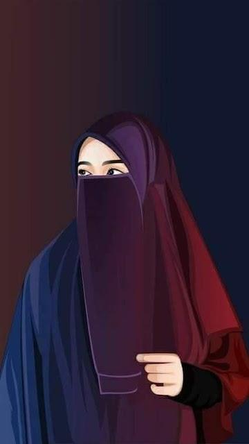 kartun muslimah bercadar Terbaru