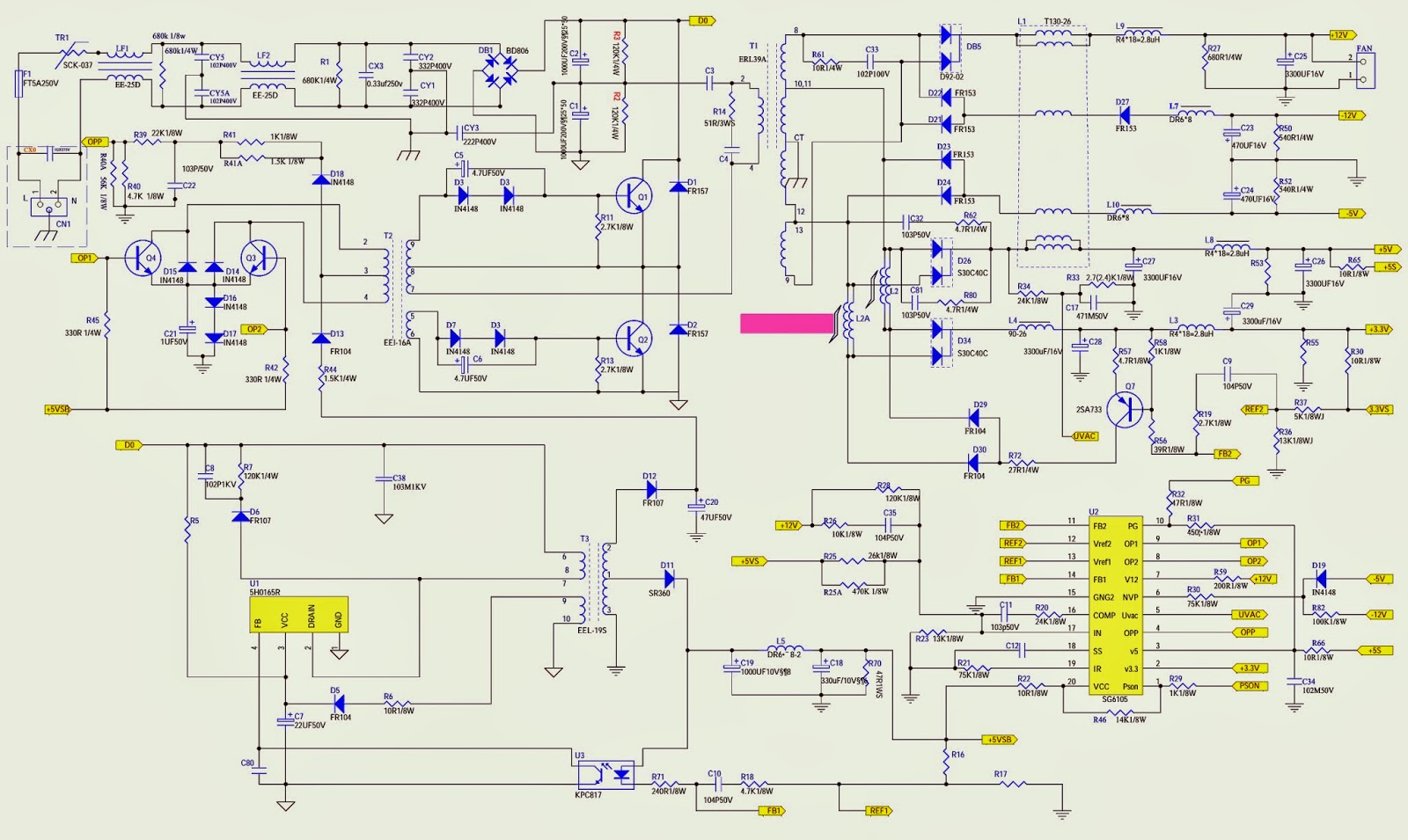 Atx500t Atx600t Schematic Computer Power Supply Electro Help The Circuit Diagram Of 4w Fluorescent Lamp