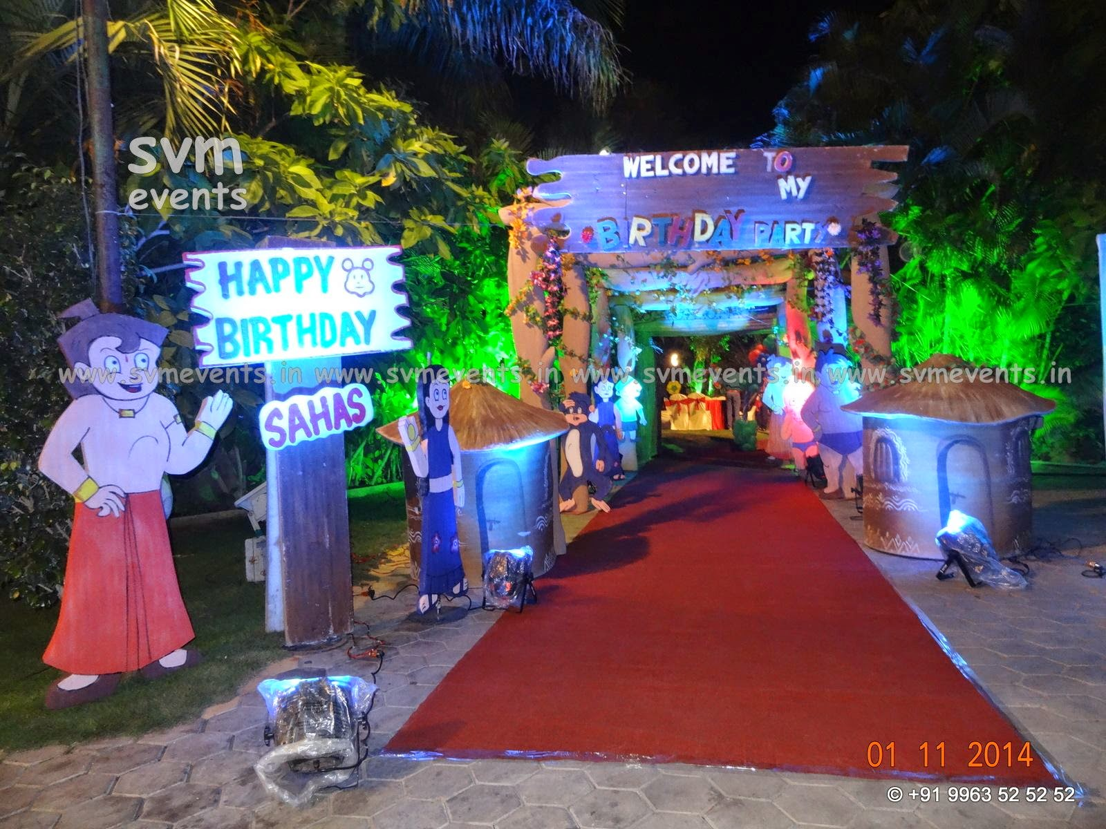 Svm Events Birthday Party 3d Theme Decoraions In Hyderabad