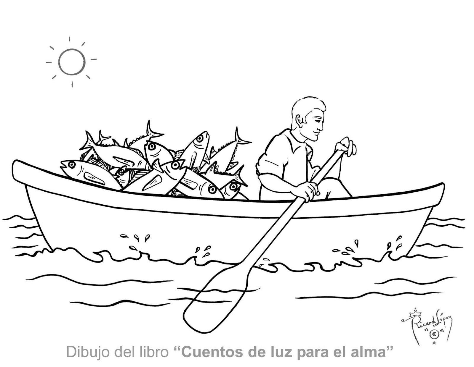 Dibujos Para Colorear Un Pescador: Pin Pescador Para Colorear On Pinterest