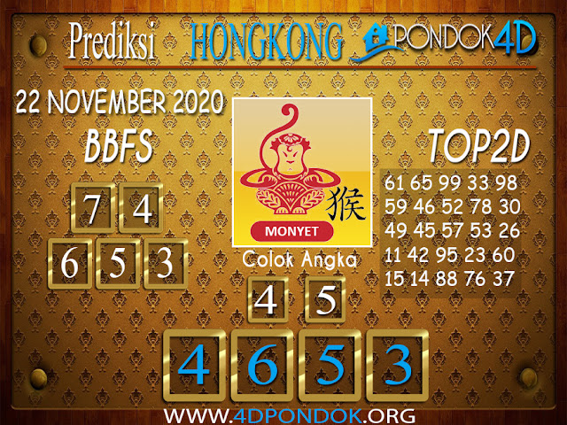 Prediksi Togel HONGKONG PONDOK4D 22 NOVEMBER 2020