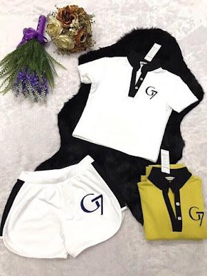Set áo Croptop và quần short