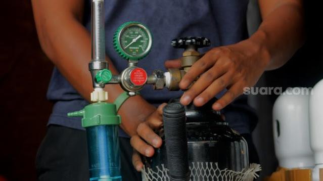 Serupa India, Kelangkaan Tabung Oksigen di Jakarta Sebabkan Harga Melonjak Tinggi