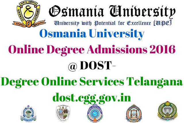 OU,Online Degree Admissions,dost-degree online services telangana